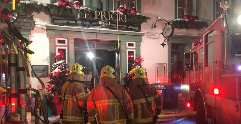 Incendie dans un Hôtel à Québec — DERNIÈRE HEURE
