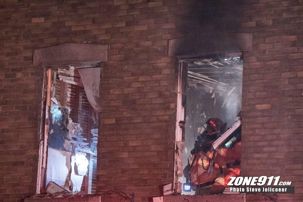 Un incendie jette quatre personnes à la rue à Québec