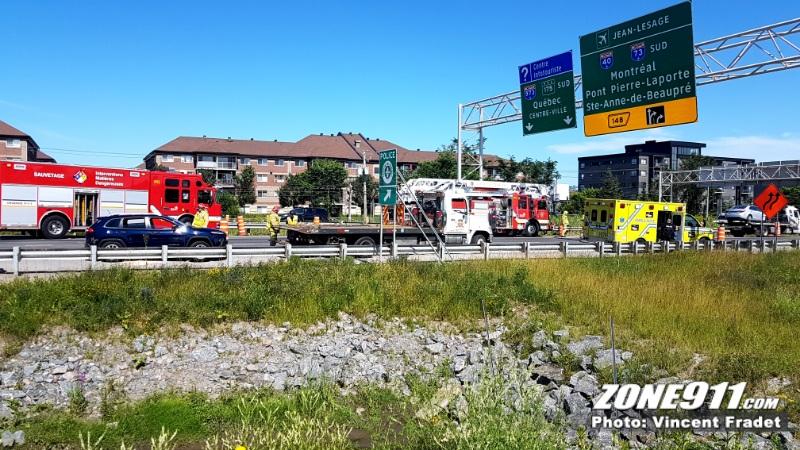 Grave accident de moto sur le pont Pierre Laporte — DERNIÈRE HEURE
