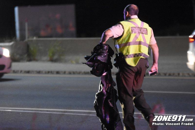 Accident de moto mortel à Québec