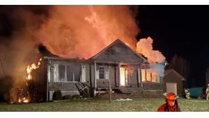 IMAGES Page Facebook : Incendie St-Gabriel de Valcartier